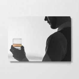 Gentleman with Scotch Metal Print