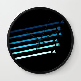Blue Streaking Dice Wall Clock
