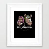 bebop Framed Art Prints featuring Bebop & Rocksteady Henchmen Academy  by Fanboy30