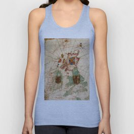 Vintage Map of The British Isles (1600) Unisex Tank Top
