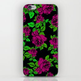 ROSES ROSES PINK AND GREEN iPhone Skin