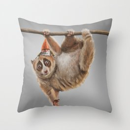 Loris and Gnome Throw Pillow