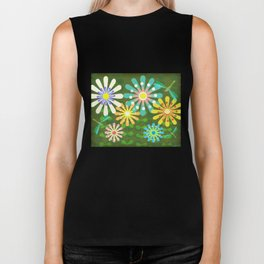In The Garden Among The Flowers Biker Tank