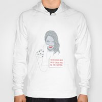 emma stone Hoodies featuring Illustration Emma Stone 'Grilled Cheese' by Katie Munro
