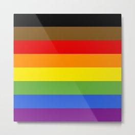 LGBTQIA+ FLAG Metal Print
