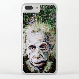 Albert Einstein - brainstorm Clear iPhone Case