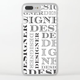 Designer Grid -Black and White Clear iPhone Case
