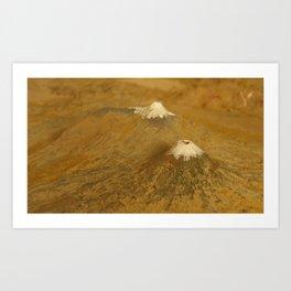 Volcanes Art Print