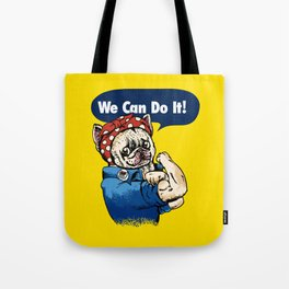 We Can Do It French Bulldog Tote Bag