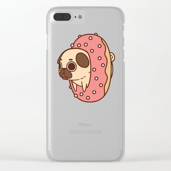 Puglie Doughnut Clear iPhone Case