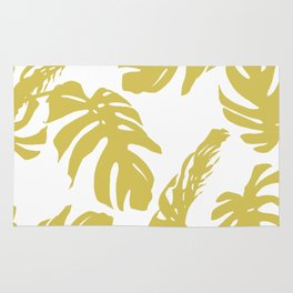 Simply Mod Yellow Palm Leaves Rug