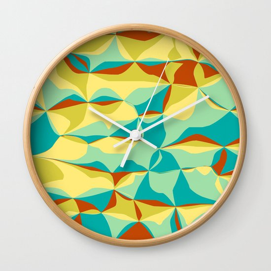 Imperfect Tiles Wall Clock