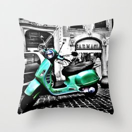 Roma Vespa Throw Pillow