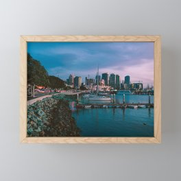 Moody sunset by Downtown San Diego Framed Mini Art Print