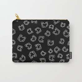 bite me (black and white version) Carry-All Pouch
