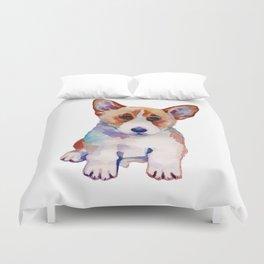 Corgi puppy Duvet Cover