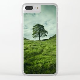 Sycamore Gap Hadrian's Wall Clear iPhone Case