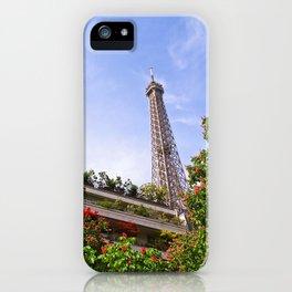 Springtime Eiffel Tower iPhone Case