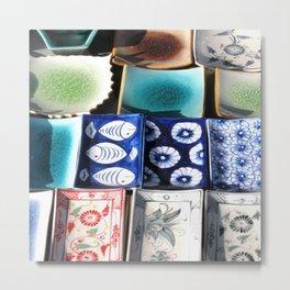 Ceramic Tableware Metal Print
