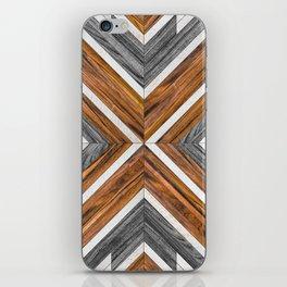 Urban Tribal Pattern 4 - Wood iPhone Skin