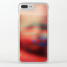 Ghost Glitch Clear iPhone Case