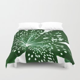 Lily Infrared In Green Duvet Cover