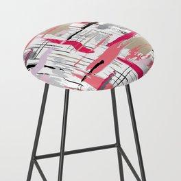 Pink Brushstroke Bar Stool