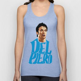 Del Piero Name Blue Unisex Tank Top