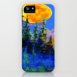 FULL MOON OVER BLUE MOUNTAIN FOREST DESIGN iPhone Case