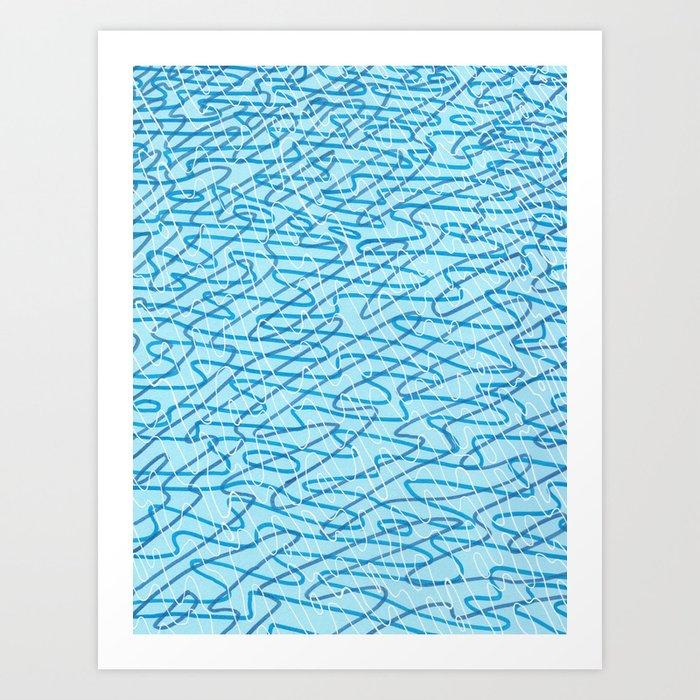 Blue Ripples Art Print