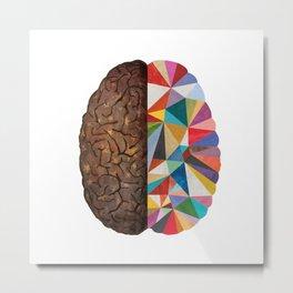 Geometric Right Brain Metal Print