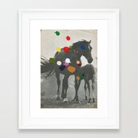pony Framed Art Prints featuring PONY by Beth Hoeckel