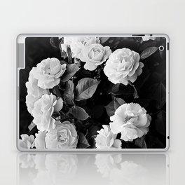 Black And White Roses Laptop & iPad Skin