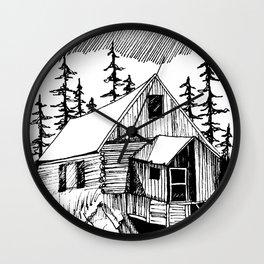 "Log Cabin, ""Wild Horse Mill"" Wall Clock"
