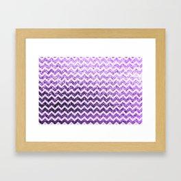 Glitter Sparkly Bling Chevron Pattern (purple) Framed Art Print