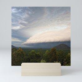 Storm clouds over Australian landscape Mini Art Print