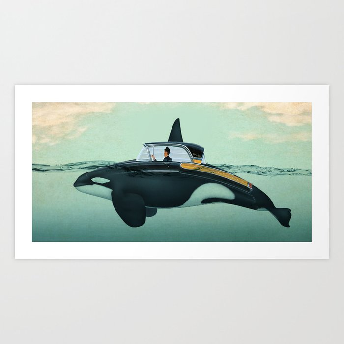The Turnpike Cruiser of the sea Art Print