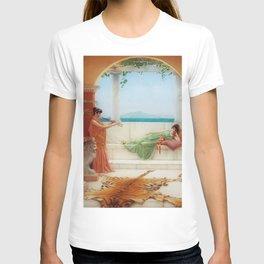 The Sweet Siesta of a Summer Day island landscape by John William Godward T-shirt