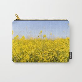 Bright yellow spring flowers pattern blue sky photography Carry-All Pouch