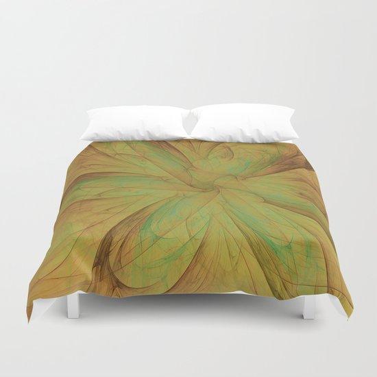 Fall Blossom Fractal Duvet Cover