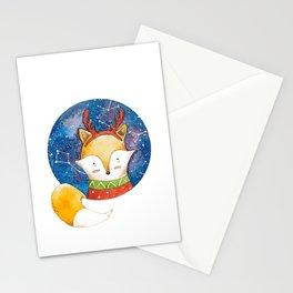 Silent Night Foxy Stationery Cards