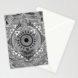 Metamorphic (black) Stationery Cards