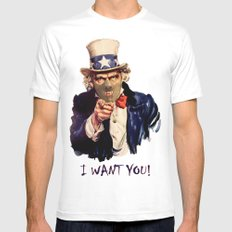 Uncle Sam SMALL Mens Fitted Tee White