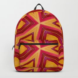Orange Yellow Triangle Abstract Backpack