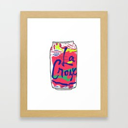 passionfruit La Croix or death Framed Art Print