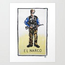 El Narco Art Print