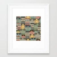 urban Framed Art Prints featuring Urban by Julia Badeeva