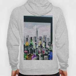 Aperitifs in New York Landscape Painting Hoody