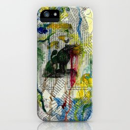 Green Lion devouring the Sun iPhone Case