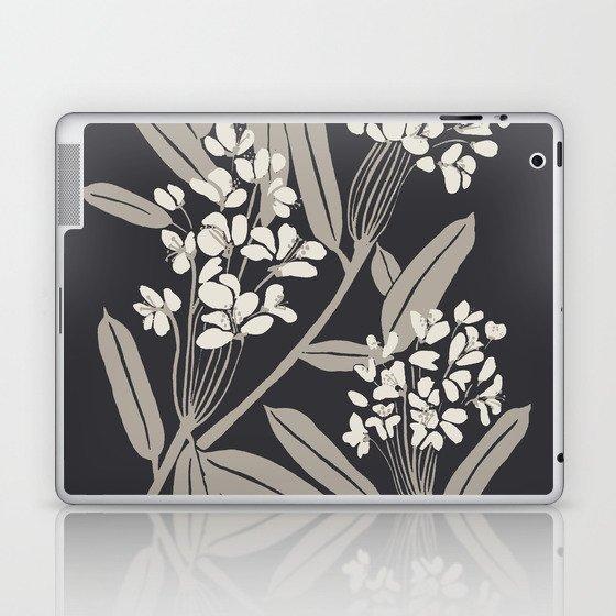Boho Botanica Black Laptop & iPad Skin